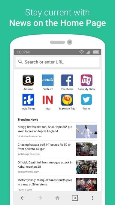En Inde, Amazon lance « Internet » un navigateur Android