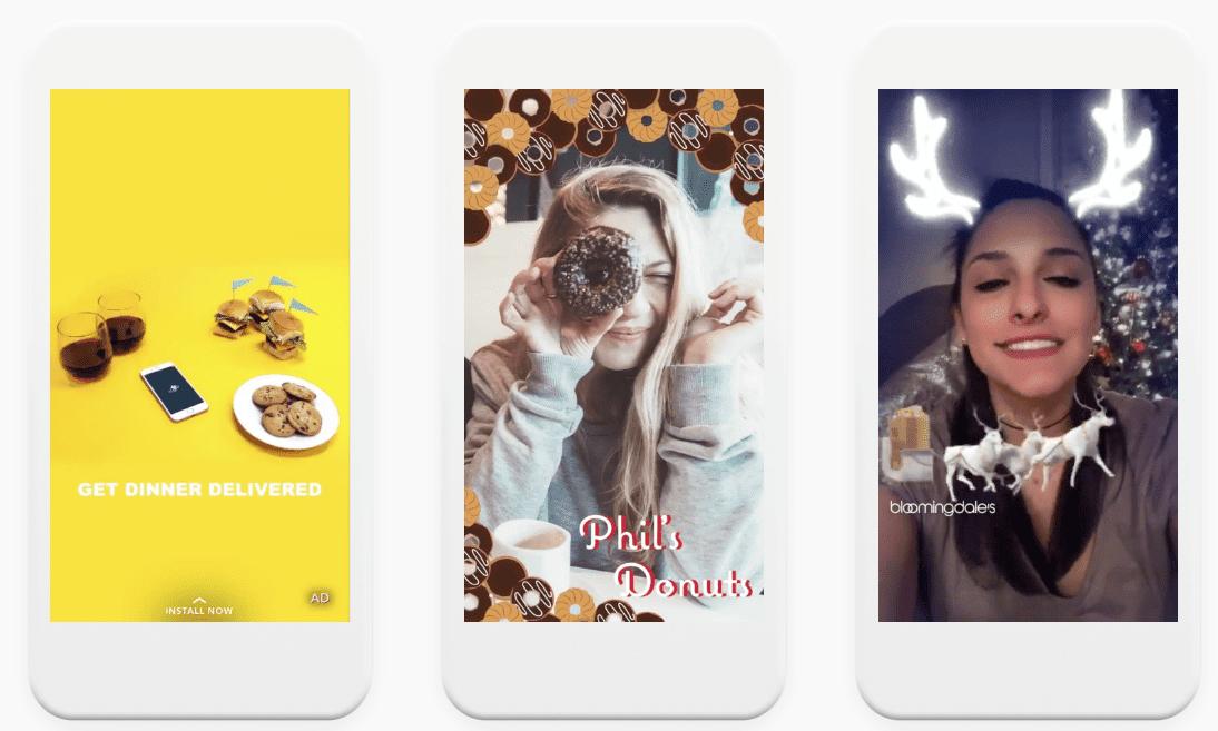 snapchat formats publicitaires