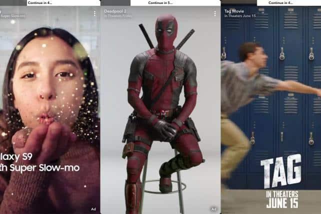Les publicités unskippables, officiellement testées sur Snapchat