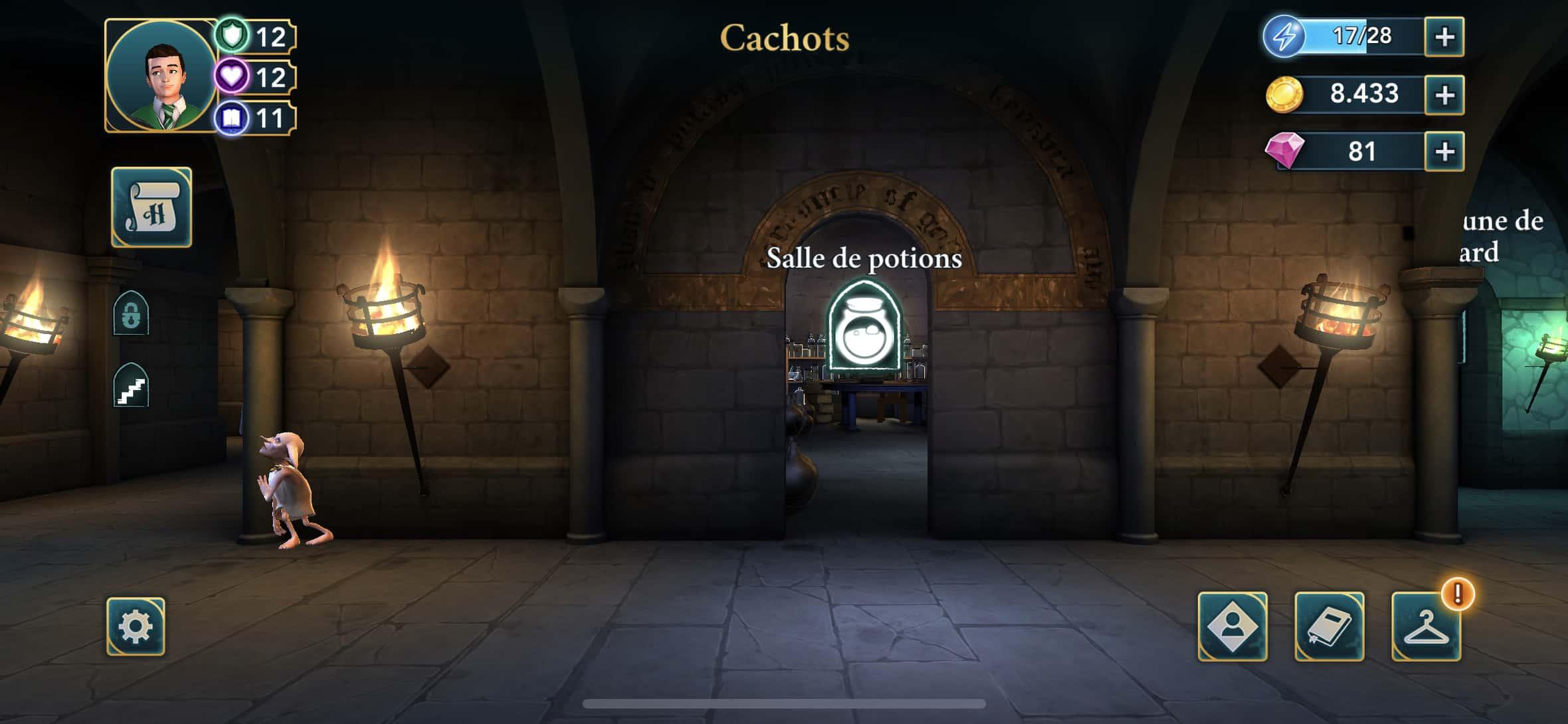test Harry Potter Hogwarts Mystery sur smartphone