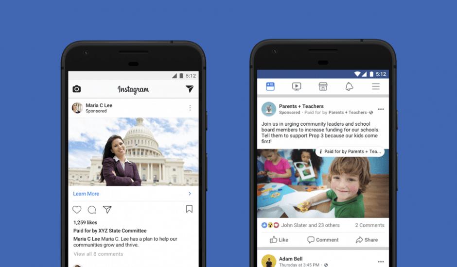 Facebook nouvelles règles publicités politiques