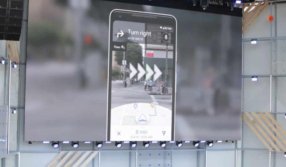 Le mode Street View en réalité augmentéepermet de suivre les directions en temps réel