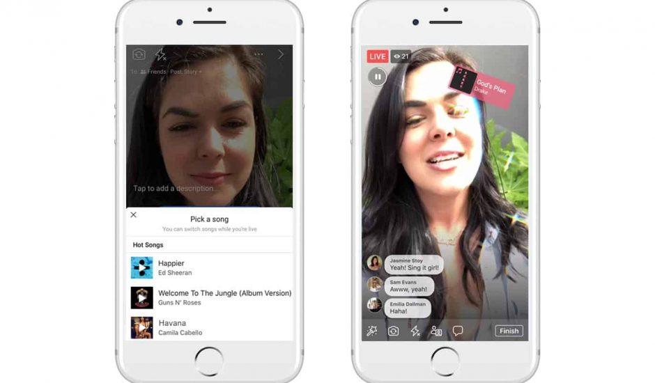 Facebook lance Lip Sync Live, une fonctionnalité qui vous permet de chanter en live sur vos chansons préférées