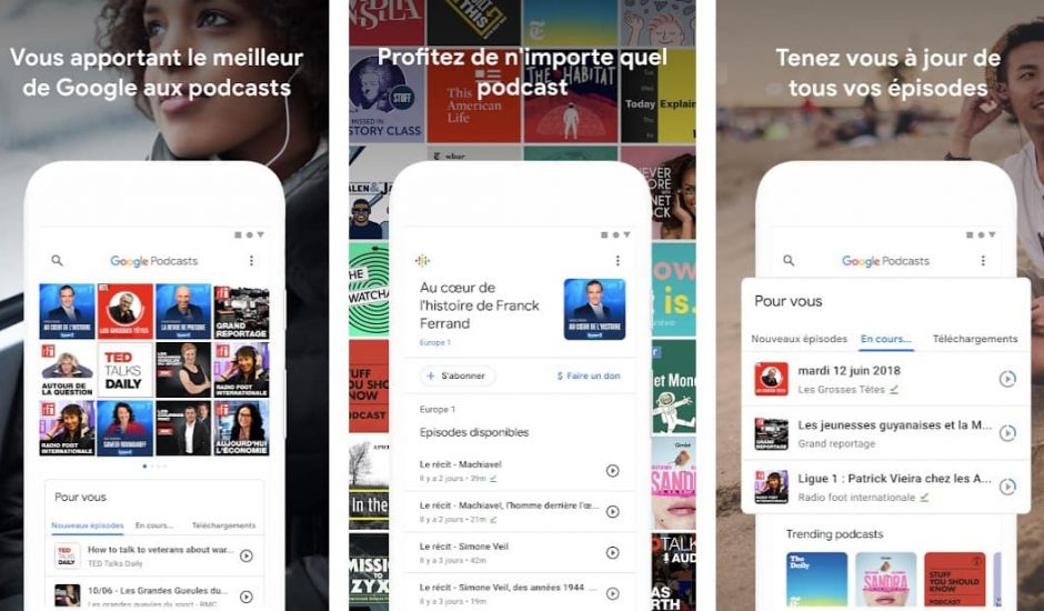 L'application Podcasts de Google est disponible dès aujourd'hui