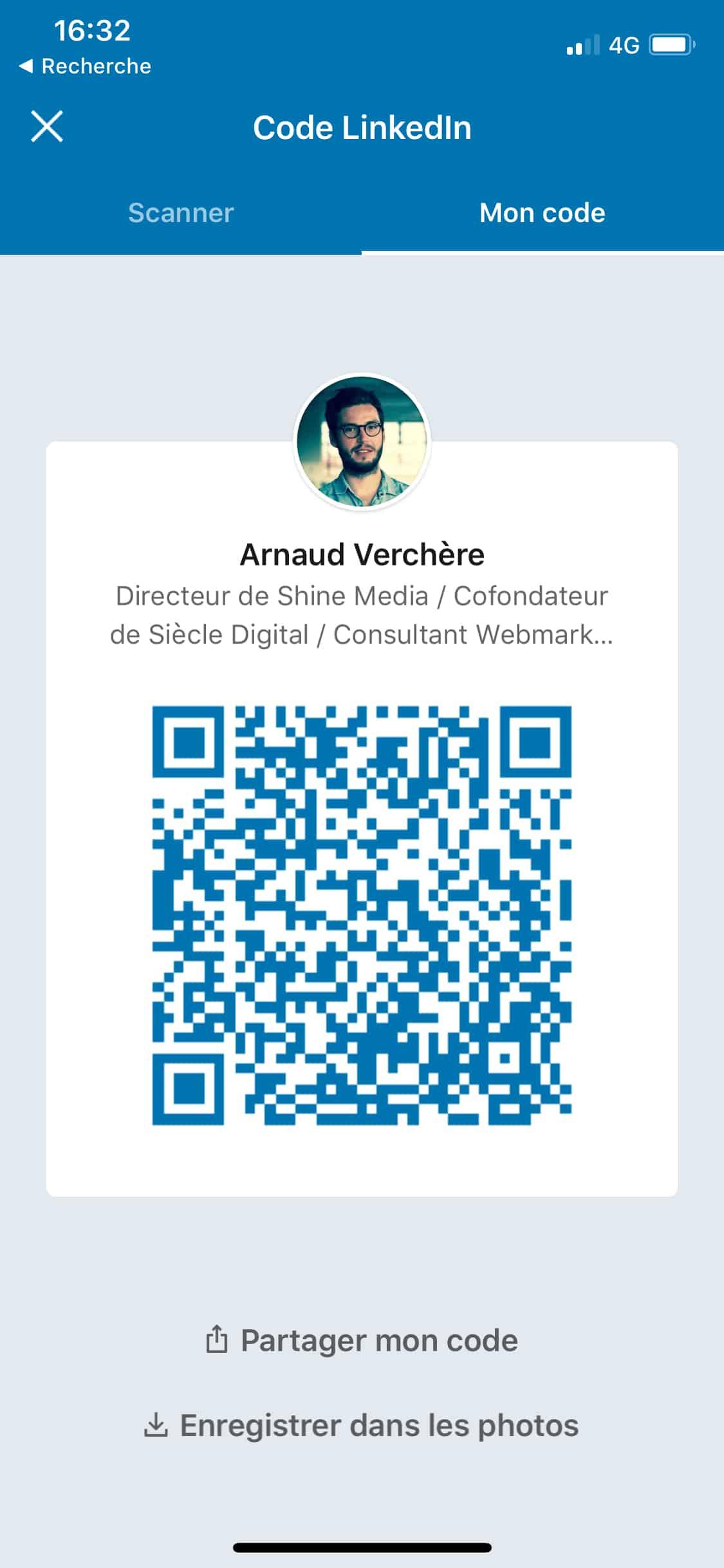 linkedin qr code pour connecter les membres