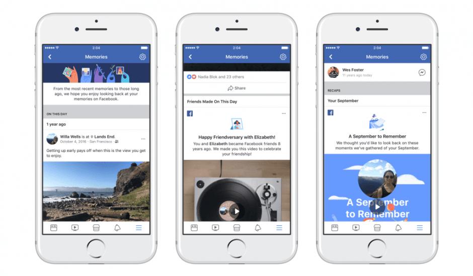 Tous vos souvenirs Facebook réunis dans un seul endroit