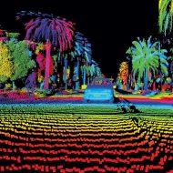 voitures autonomes de capteurs laser