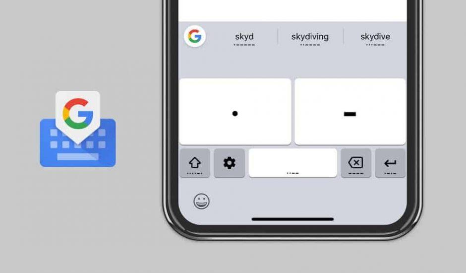 google clavier gboard code morse