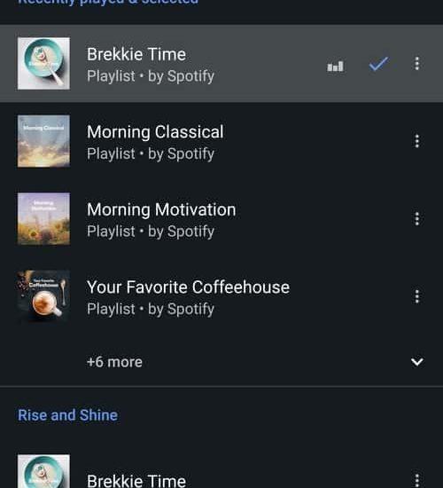 L'application Google Clock est désormais compatible avec Spotify
