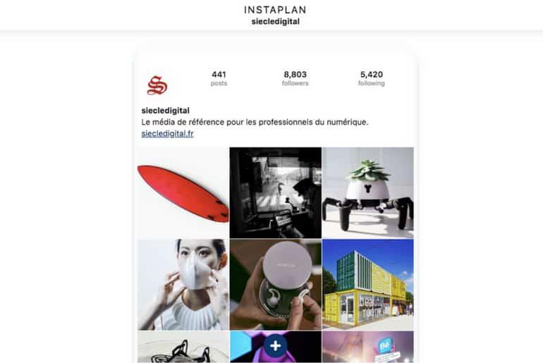 un outil gratuit pour préparer ses images sur son compte Instagram