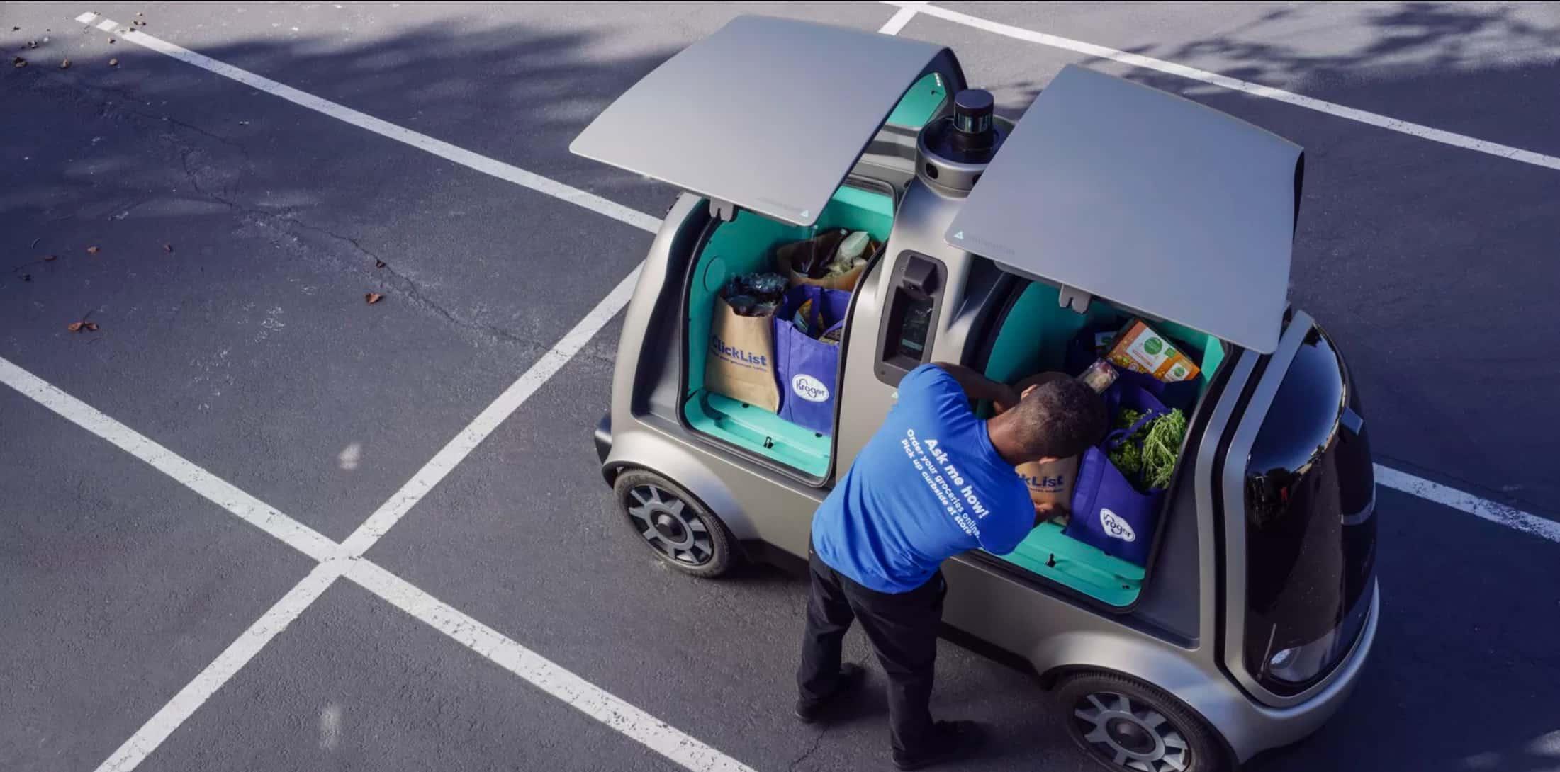 Service de livraison autonome proposé par Kroger et Nuro