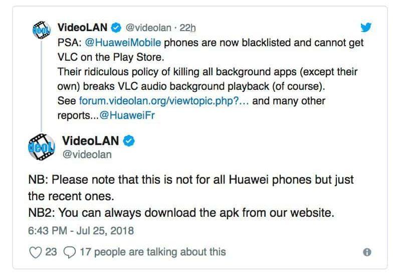 VLC Huawei