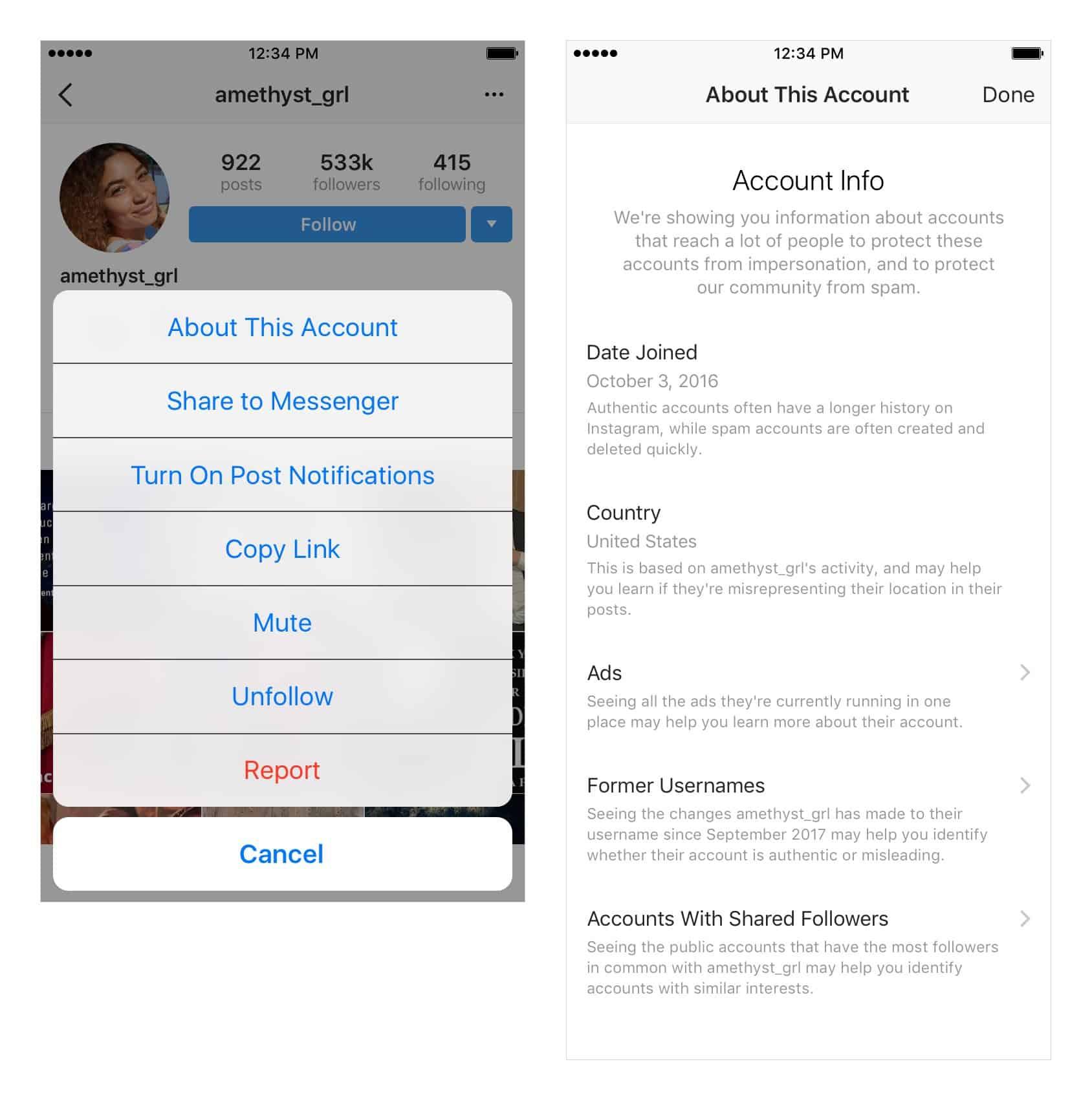 Instagram renforce la sécurité des utilisateurs et donne plus d'informations sur l'authenticité des comptes