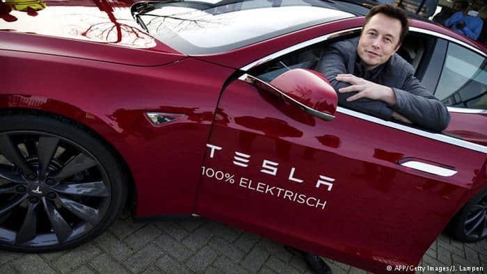 Elon Musk Tesla bourse production