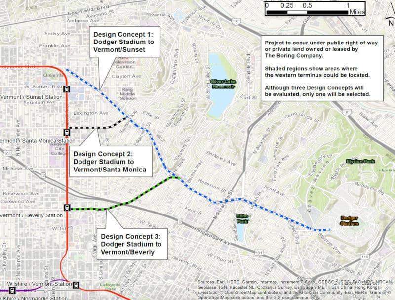 Plan tunnel Los Angeles