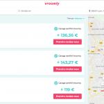 page de résultats des garagistes sur vroomly