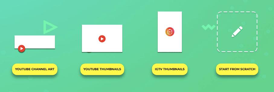 on peut sélectionner différents formats sur picmaker.io