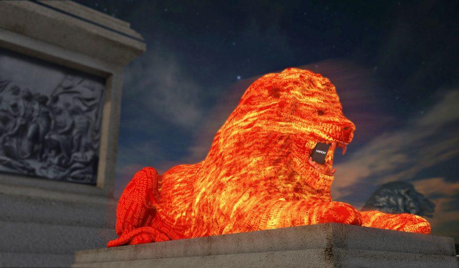 Google Lion Trafalgar Square