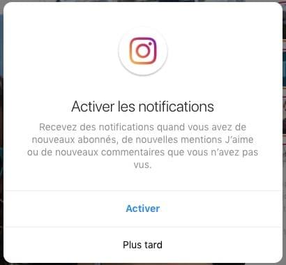 Instagram : les notifications arrivent sur les navigateurs Web et Instagram Lite