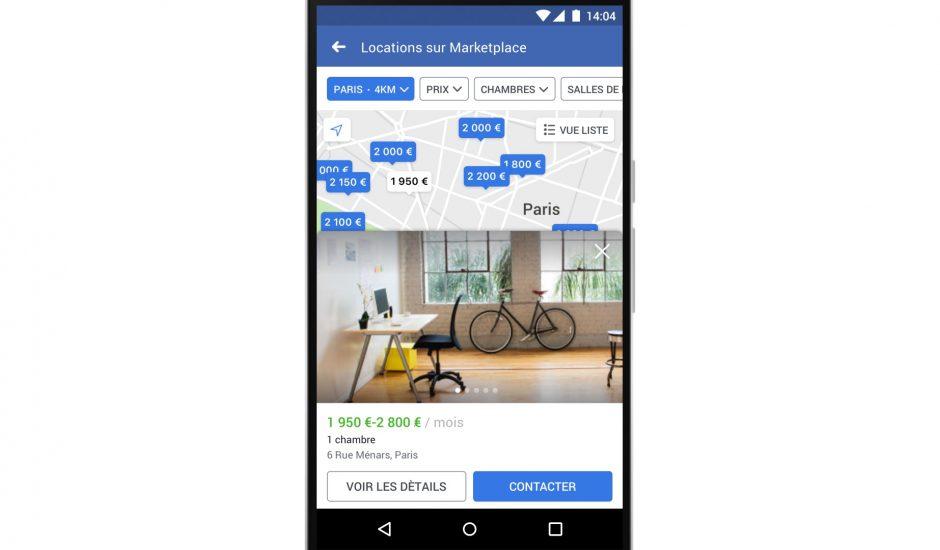 Facebook Marketplace facilite la recherche de biens à louer en France