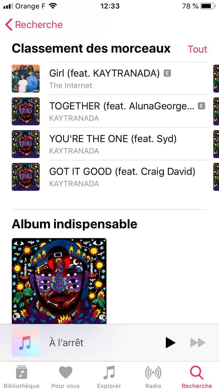 Apple Music : enfin une réorganisation des pages artistes