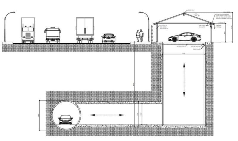 plan ascenseur à voitures