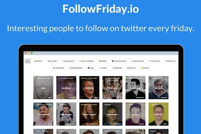 Followfriday un site qui regroupe des comptes à suivre sur twitter