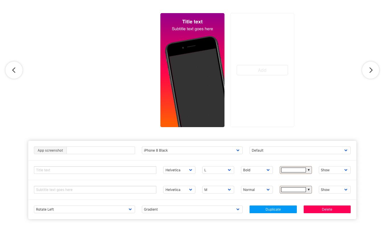 Promomatic template app store smartphone