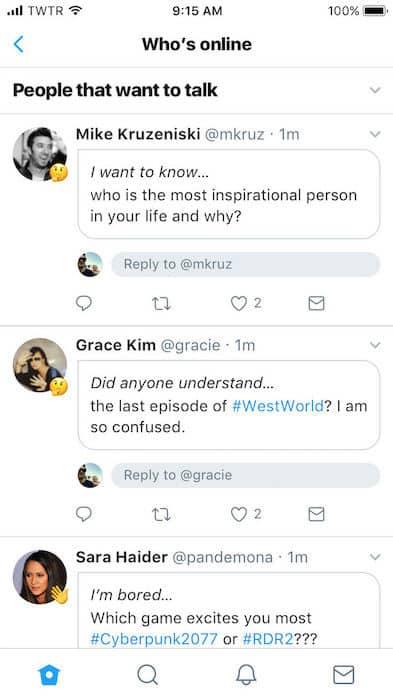 Twitter propose des conversations sur les centres d'intérêts