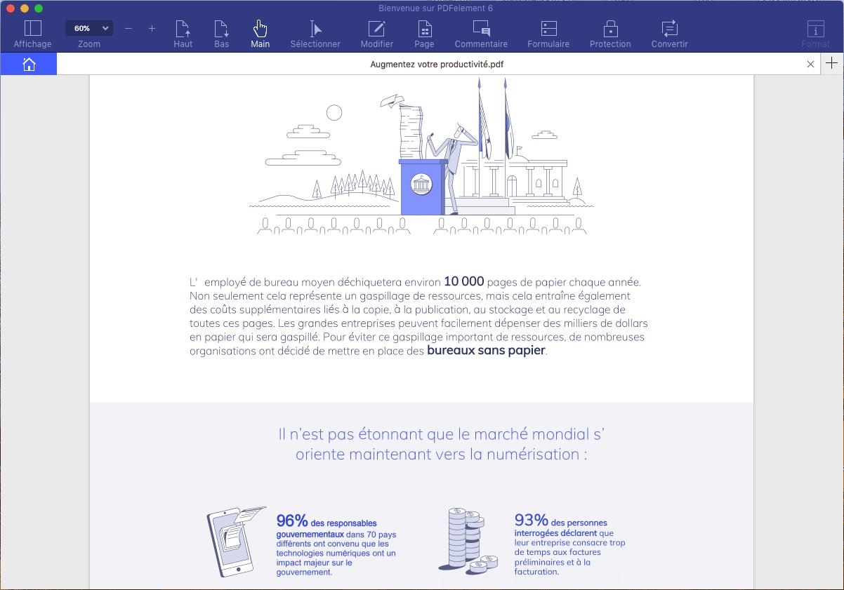 interface utilisateur de pdfelement