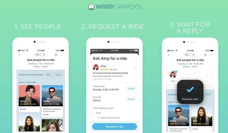 Waze développe son service de covoiturage aux États-Unis