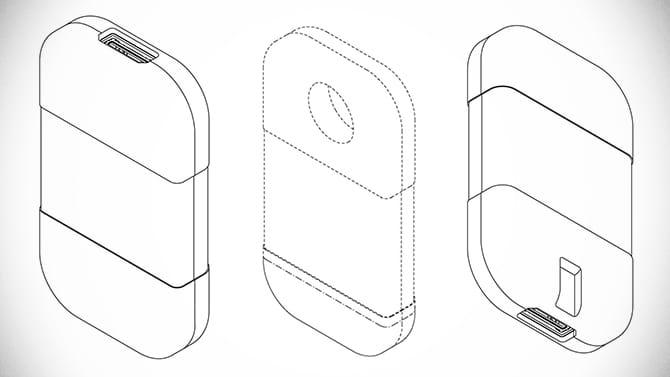 Croquis brevet cartouche jeu électronique Sony
