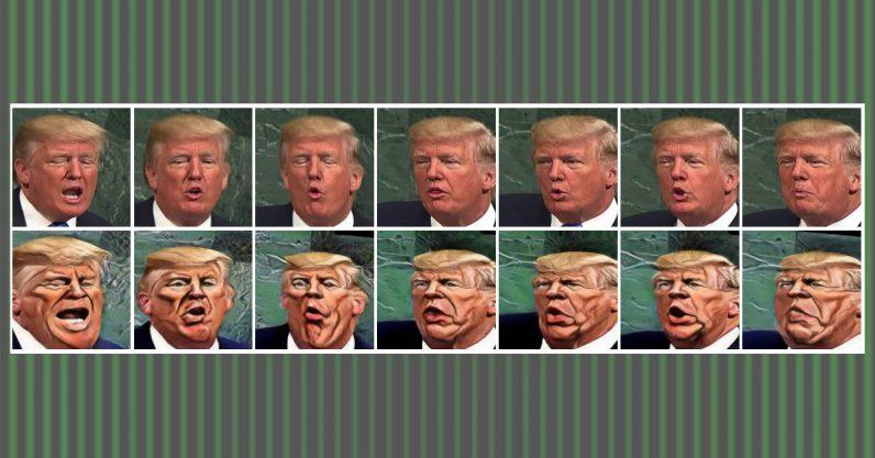 Donald Trump caricature IA