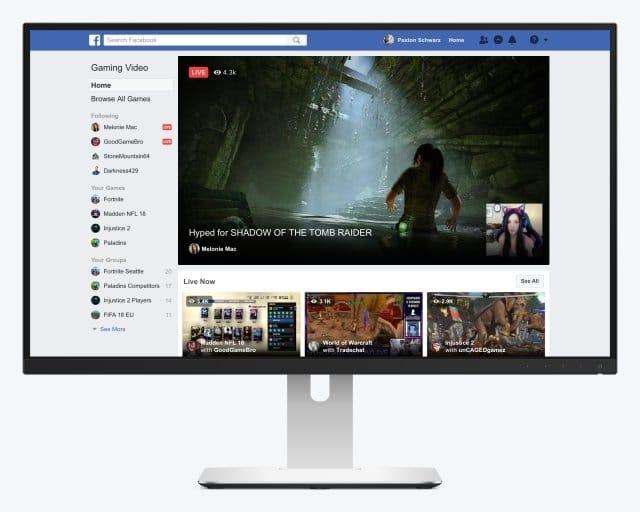 Ecran Level-Up facebook