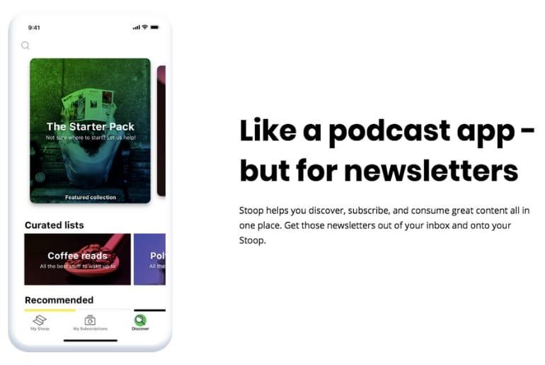 Stoop est un outil qui vous permet de consulter différemment vos newsletters