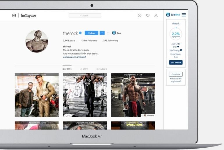 un outil pour obtenir les statistiques d'un profil Instagram
