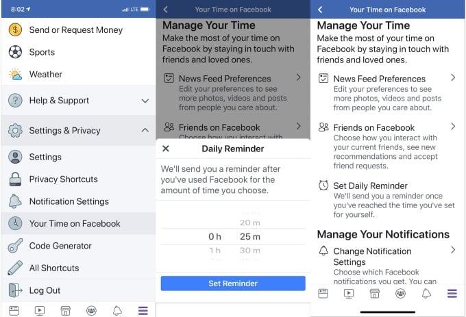 Facebook vous donne enfin le temps passé sur le réseau social