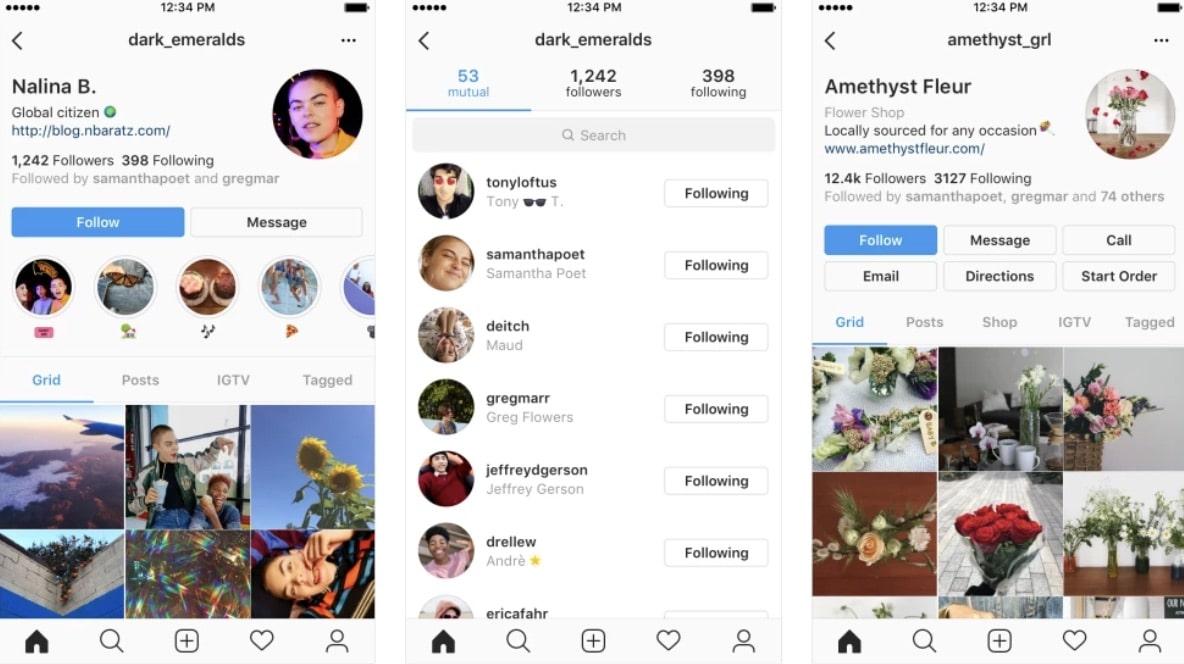 Instagram annonce un nouveau design pour les profils, axé sur l'utilisateur