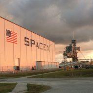 Un des bâtiments de SpaceX