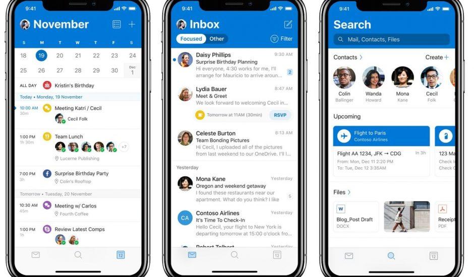 Microsoft Outlook lance un nouveau design sur iOS et il intègre un mode sombre