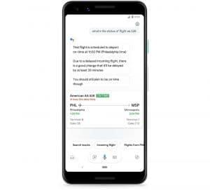 Grâce à Google Assistant, vous serez informés si votre vol est retardé