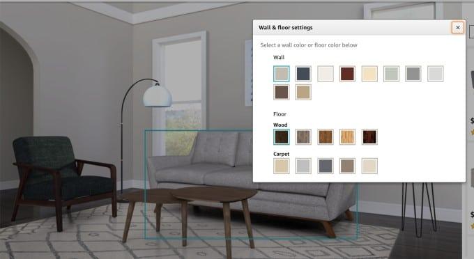 Vous pouvez disposer les meubles du site internet et créer votre intérieur.