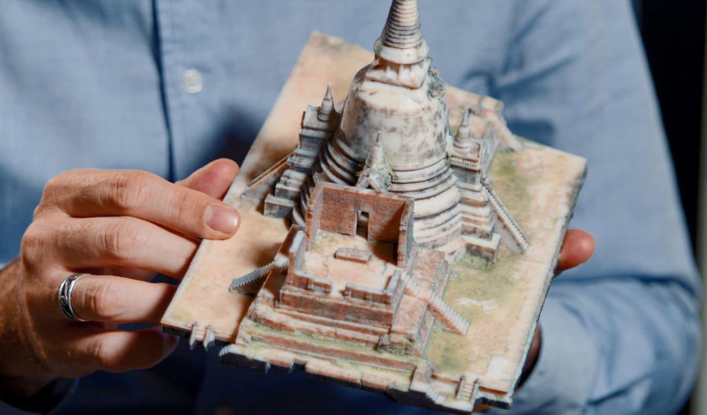 Reproduction 3D d'un monument historique