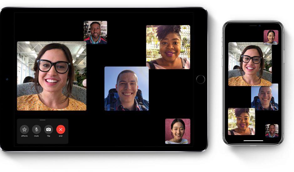photo présentant plusieurs personnes discutant ensemble dans une conversation FaceTime