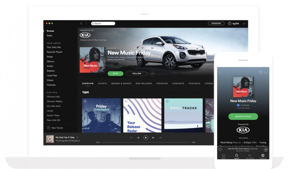 Spotify donne la possibilité aux entreprises de sponsoriser une playlist complète