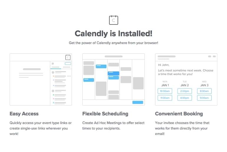 Calendly extension Chrome réunion rendez-vous