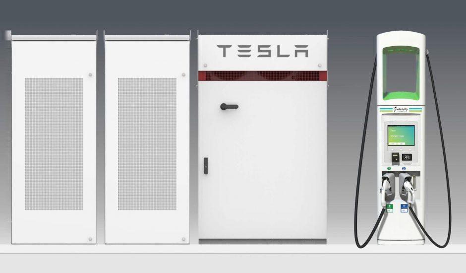 Tesla décide de collaborer avec Volkswagen pour lui fournir une centaine de stations de recharge.