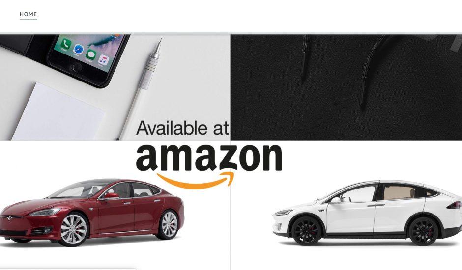 Tesla ouvre sa boutique Amazon