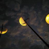 Les LED installées à Taipei retracent les différents parcours de la Lune.