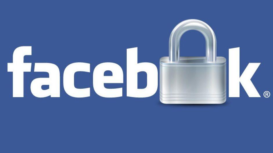 logo de Facebook et un cadenas
